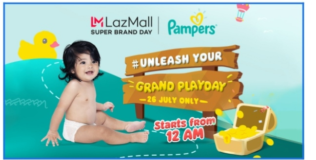 Lazada and Pampers Celebrate their Second Super Brand Day today July 26!
