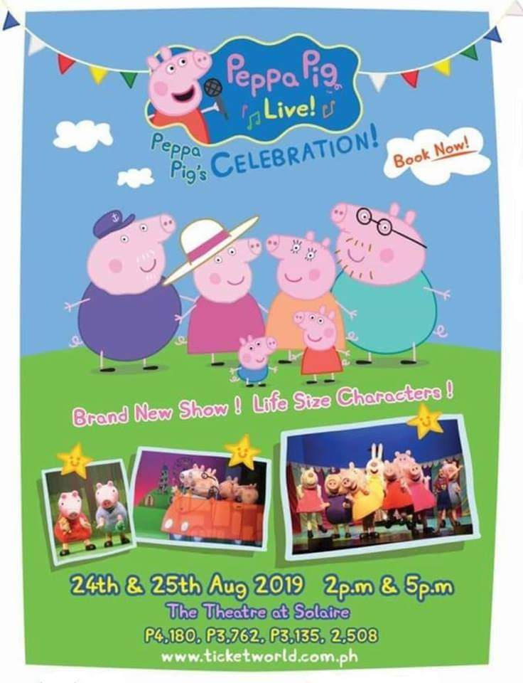 Peppa Pig Celebrations Live at the Theater Solaire 2019