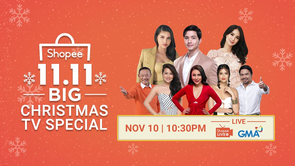 Shopee 11.11 Big Christmas Sale with First-Ever 11.11 Big Christmas TV Special