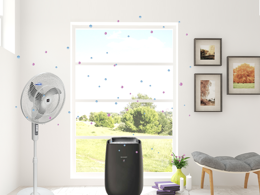 Achieve cleaner indoor air with Sharp's Plasmacluster Ion and unique Airflow Technology