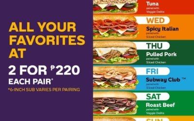 Subway® 2 for Php220 on Daily Favorites