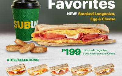 Subway New Breakfast Offering: Smoked Longaniza, Egg & Cheese